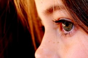 a person's eye